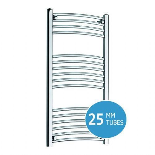 Kartell K-Rail Premium Curved Towel Rail - 400mm x 1000mm - Chrome